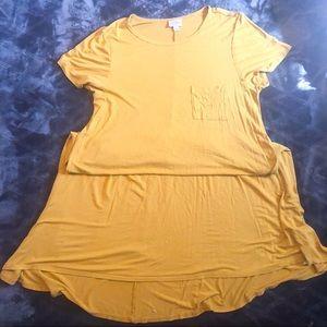 LulaRoe Mustard Carly Dress